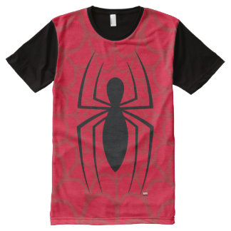 Spider-Man Skinny Spider Logo All-Over Print T-Shirt