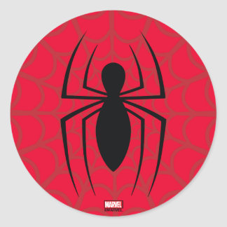 Spider-Man Skinny Spider Logo Classic Round Sticker