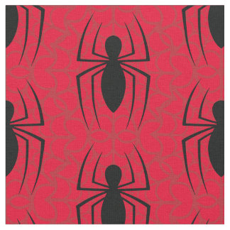 Spider-Man Skinny Spider Logo Fabric