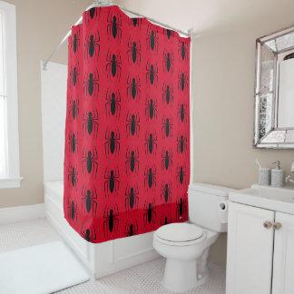 Spider-Man Skinny Spider Logo Shower Curtain