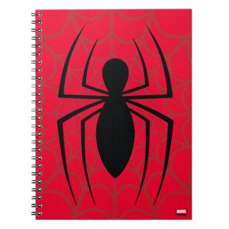 Spider-Man Skinny Spider Logo Spiral Notebook