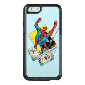 Spider-Man Swinging Out Of Comic Panels OtterBox iPhone 6/6s Case