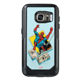 Spider-Man Swinging Out Of Comic Panels OtterBox Samsung Galaxy S7 Case
