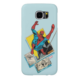 Spider-Man Swinging Out Of Comic Panels Samsung Galaxy S6 Cases