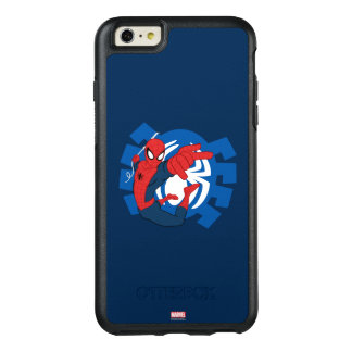 Spider-Man Swinging Over Blue Logo OtterBox iPhone 6/6s Plus Case