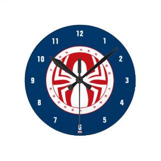 Spider-Man Team Heroes Emblem Clock