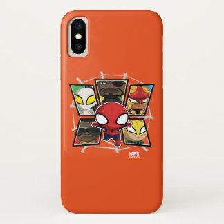 Spider-Man Team Heroes Mini Group iPhone X Case