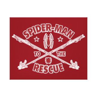 Spider-Man To The Rescue Canvas Print