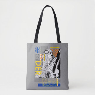 Spider-Man Ultimate Bauhaus Collage Tote Bag