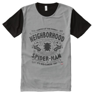 Spider-Man Victorian Trademark All-Over Print T-Shirt