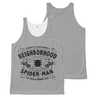Spider-Man Victorian Trademark All-Over Print Tank Top