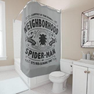 Spider-Man Victorian Trademark Shower Curtain