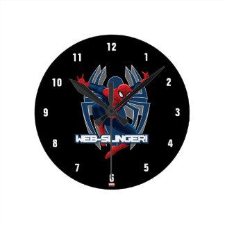 Spider-Man Web-Slinger Graphic Wall Clock