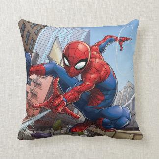 Spider-Man Web Slinging By Train Cushion