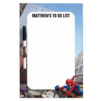 Spider-Man Web Slinging By Train Dry Erase Board
