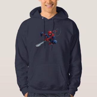 Spider-Man Web Slinging By Train Hoodie