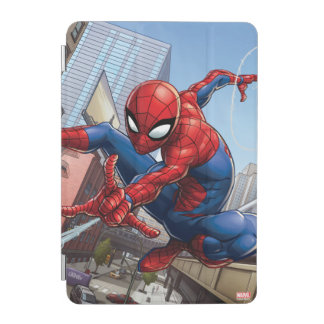 Spider-Man Web Slinging By Train iPad Mini Cover