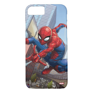 Spider-Man Web Slinging By Train iPhone 8/7 Case