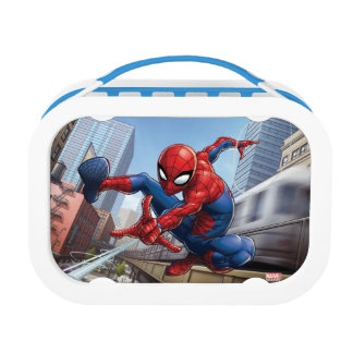 Spider-Man Web Slinging By Train Lunchboxes