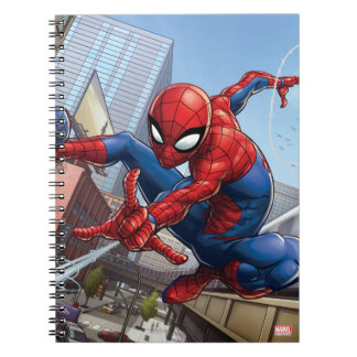 Spider-Man Web Slinging By Train Notebook