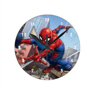 Spider-Man Web Slinging By Train Round Clock