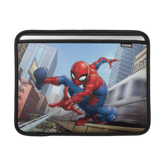 Spider-Man Web Slinging By Train Sleeve For MacBook Air