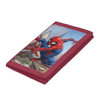 Spider-Man Web Slinging By Train Tri-fold Wallet