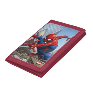 Spider-Man Web Slinging By Train Trifold Wallets