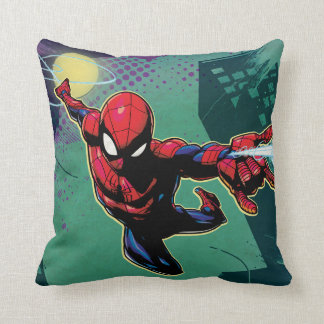 Spider-Man Web Slinging From Above Cushion