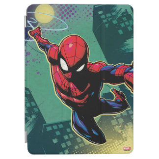 Spider-Man Web Slinging From Above iPad Air Cover