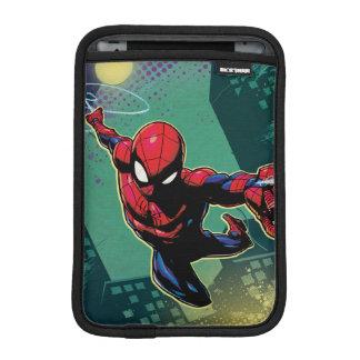 Spider-Man Web Slinging From Above iPad Mini Sleeve
