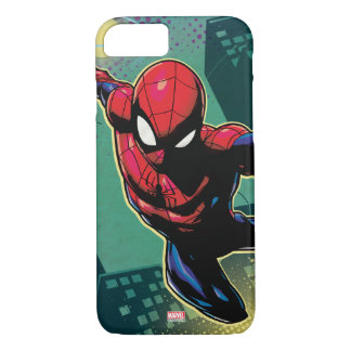 Spider-Man Web Slinging From Above iPhone 8/7 Case