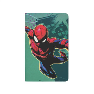 Spider-Man Web Slinging From Above Journal