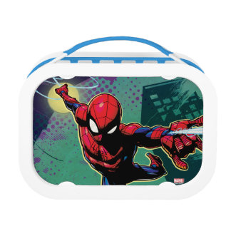 Spider-Man Web Slinging From Above Lunch Box