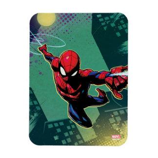 Spider-Man Web Slinging From Above Magnet
