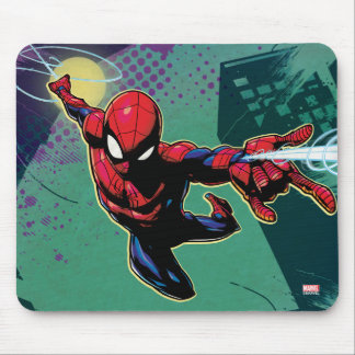 Spider-Man Web Slinging From Above Mouse Pad