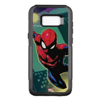 Spider-Man Web Slinging From Above OtterBox Commuter Samsung Galaxy S8+ Case