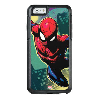 Spider-Man Web Slinging From Above OtterBox iPhone 6/6s Case