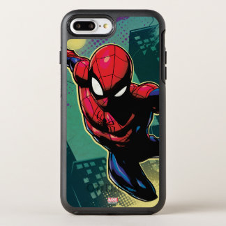 Spider-Man Web Slinging From Above OtterBox Symmetry iPhone 8 Plus/7 Plus Case