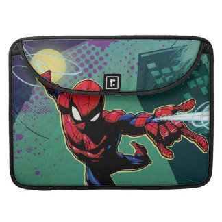Spider-Man Web Slinging From Above Sleeve For MacBook Pro