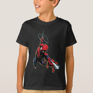 Spider-Man Web Slinging From Above T-Shirt