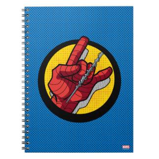 Spider-Man Web Slinging Hand Icon Notebooks