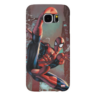 Spider-Man Web Slinging In City Marker Drawing Samsung Galaxy S6 Cases