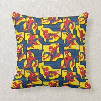 Spider-Man Web Slinging Panel Pattern Cushion
