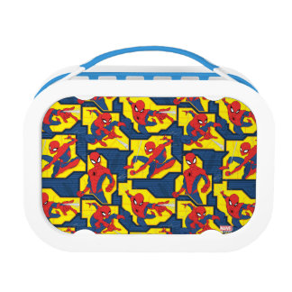 Spider-Man Web Slinging Panel Pattern Lunch Box