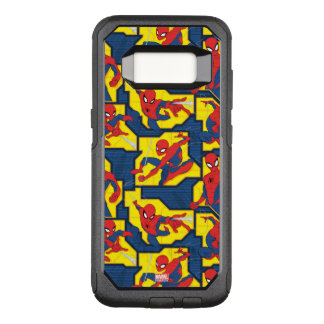Spider-Man Web Slinging Panel Pattern OtterBox Commuter Samsung Galaxy S8 Case