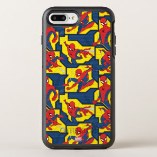 Spider-Man Web Slinging Panel Pattern OtterBox Symmetry iPhone 8 Plus/7 Plus Case