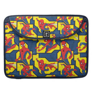Spider-Man Web Slinging Panel Pattern Sleeve For MacBook Pro