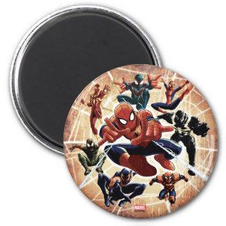 Spider-Man Web Warriors Attack 6 Cm Round Magnet