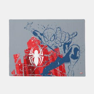 Spider-Man Worn Graphic Doormat
